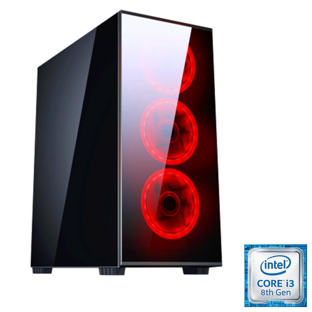 Pc gaming ventole red i3 8100 ram 8gb Ssd 240 Nvidia gt-710 da 2gb foto 2