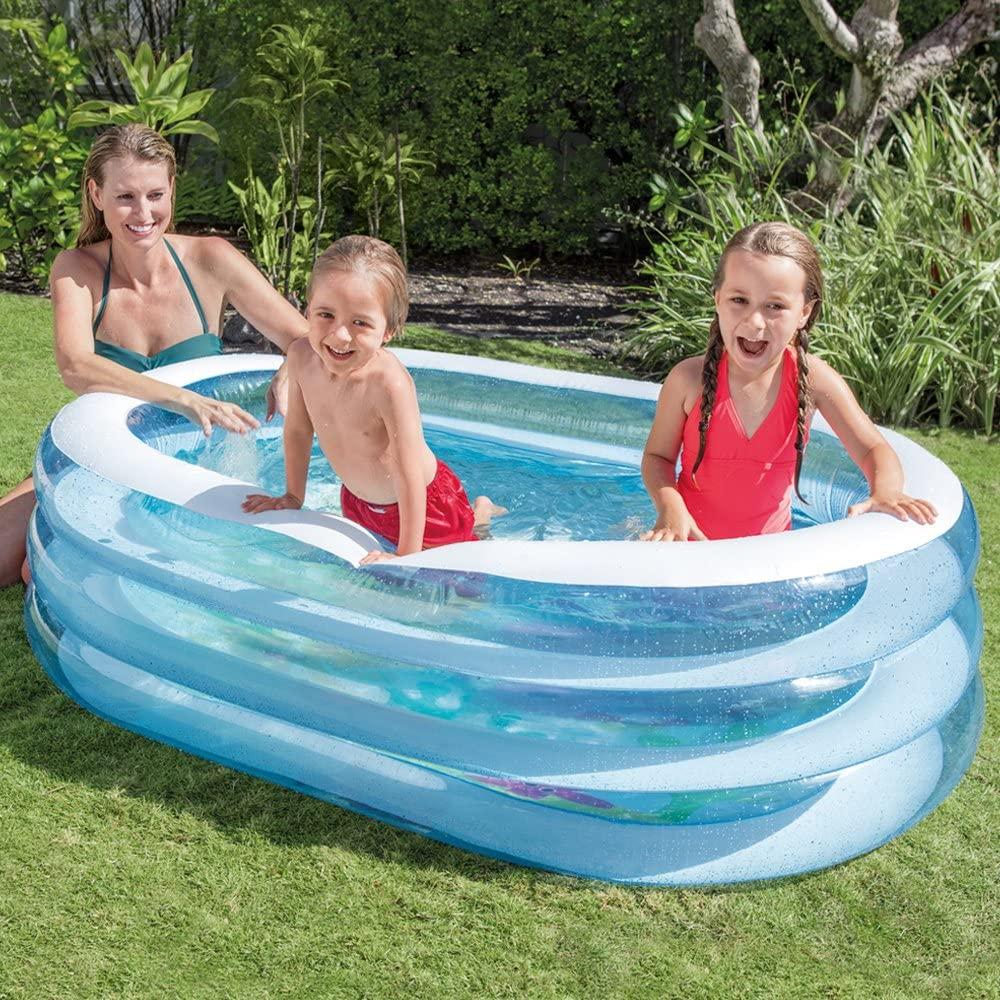 Piscina gonfiabile bagnetto Intex per bambini ovale +3 Anni 163X107X46 CM - 5748 foto 3