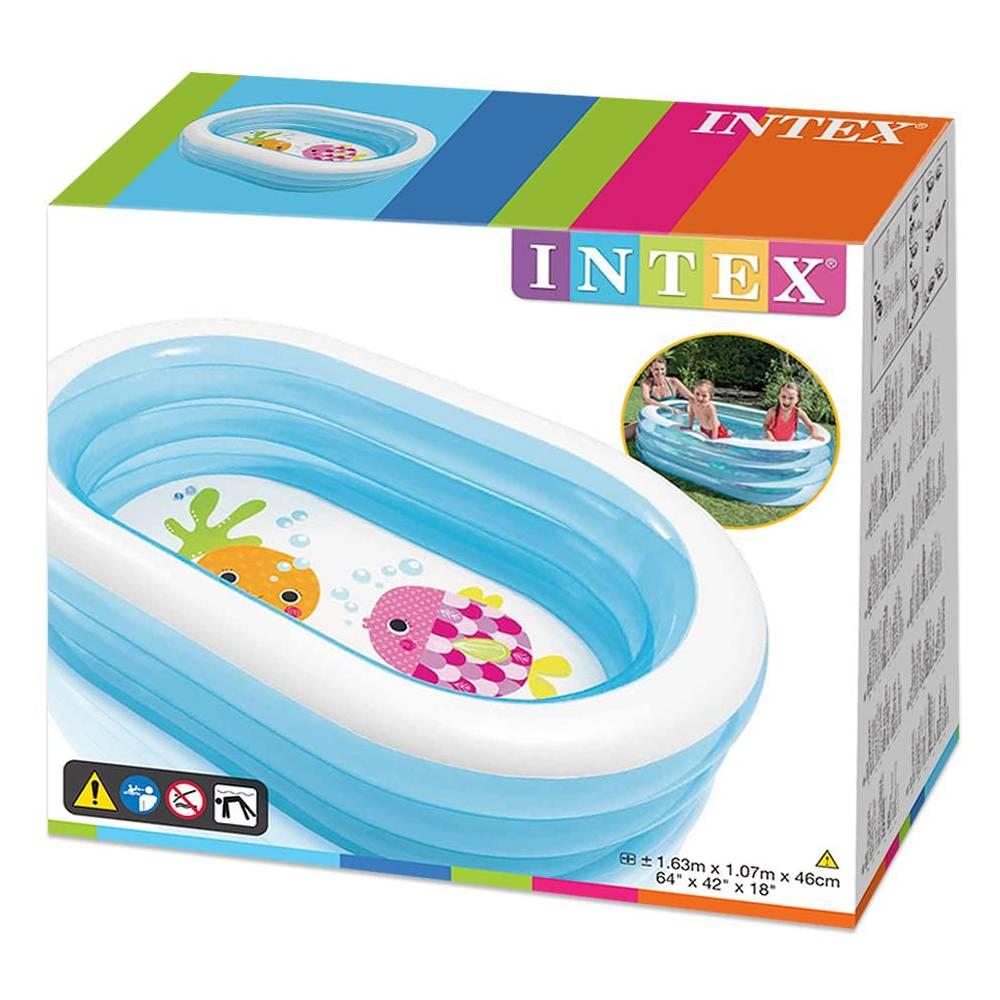 Piscina gonfiabile bagnetto Intex per bambini ovale +3 Anni 163X107X46 CM - 5748 foto 4
