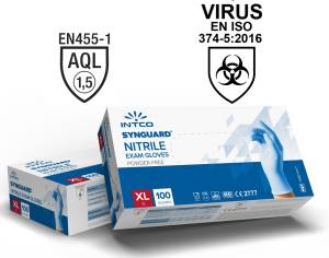 Guanti in nitrile uso medico senza polvere 100pz taglia xl