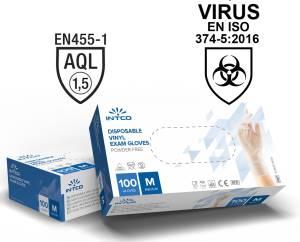 Guanti vinyl senza polvere 100pz taglia m uso medico