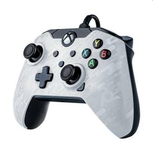 Xbox serie x pdp wired controller white camo