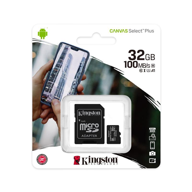MicroSD Kingston 32GB classe 10 velocità fino a 100mb/s adattatore SD incluso foto 2