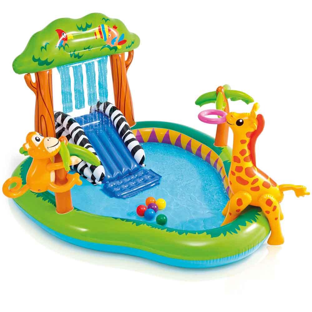 Piscina gonfiabile playcenter giungla intex per bambini 216x188x124 cm - 57155