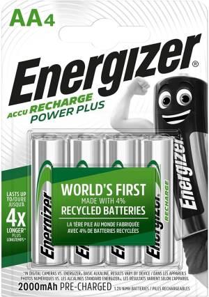 Energizer batterie stilo ricaricabili 2000 mah en0065 4pz