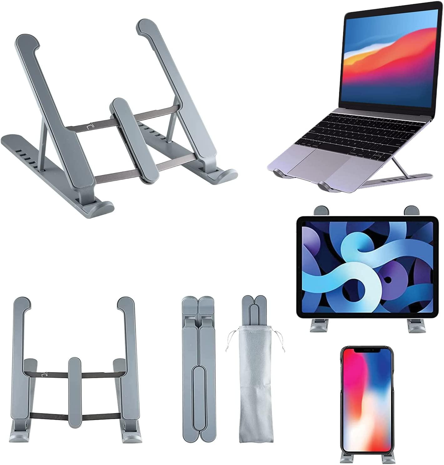 Supporto pc portatile e tablet con 6 livelli regolazione in alluminio foto 2