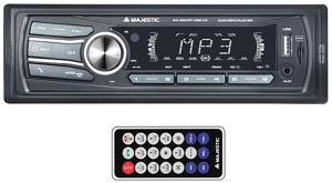 Majestic car audio system mechless sa 400 bt/usb/aux black