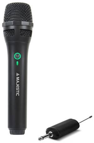 Majestic microfono wireless uhf mic-601w con ricevitore ricaricabile nero