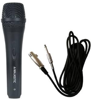 Majestic microfono dinamico unidirezionale mic-620 nero