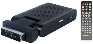 Majestic mini decoder dec-663 scart/hdmi dvb-t/t2 hd/usb/rec black
