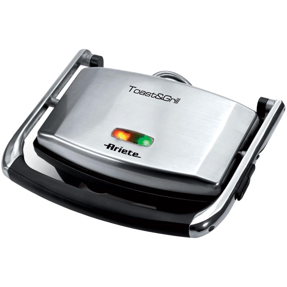 Bistecchiera elettrica per toast con grill versione slim 1000 w multiuso