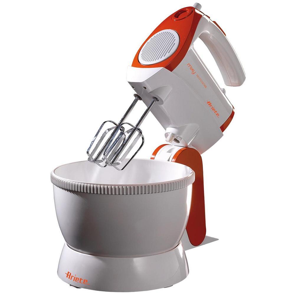 Sbattitore con fruste ariete 15651 mix professional 300 watt ciotola girevole