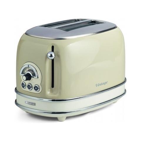 Ariete tostapane elettronico 0155 vintage funzione riscalda e scongela 810w beige