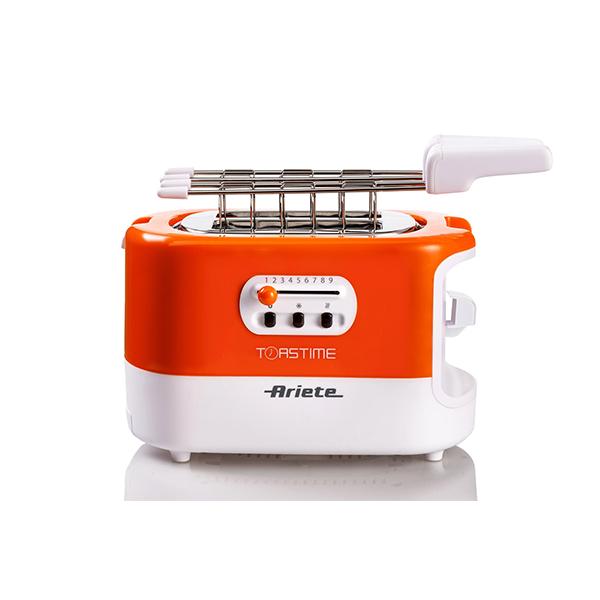 Ariete tostapane elettronico 0159 toastime + funzione riscalda e scongela 700w arancio