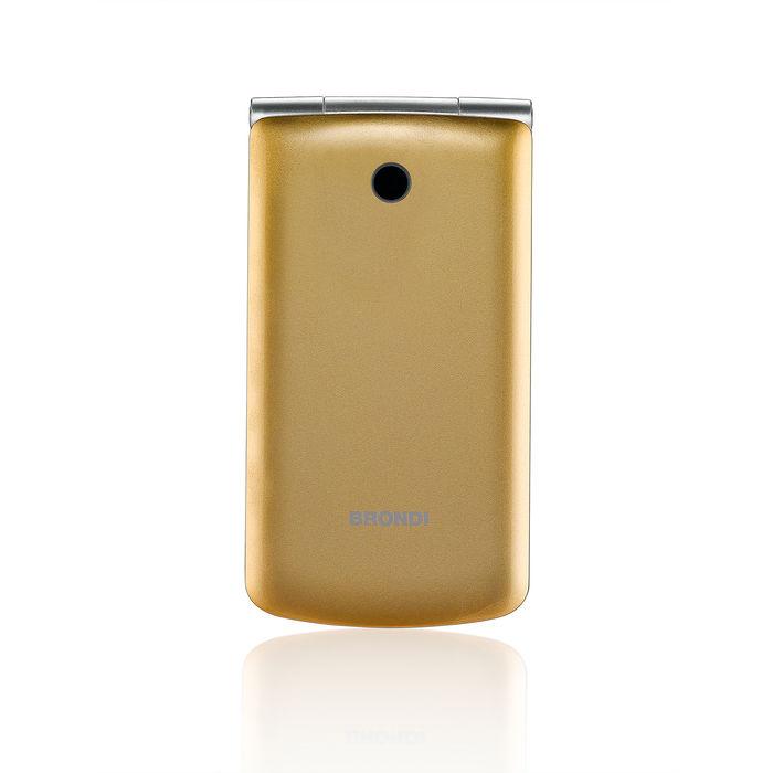 TELEFONO CELLULARE DUALSIM CLAMSHEL BIG DISPLAY BRONDI MAGNUM3  GOLD ITALIA