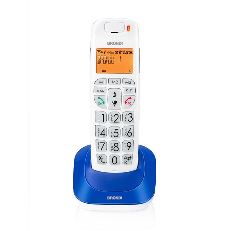 Telefono cordless brondi bravo bright blu