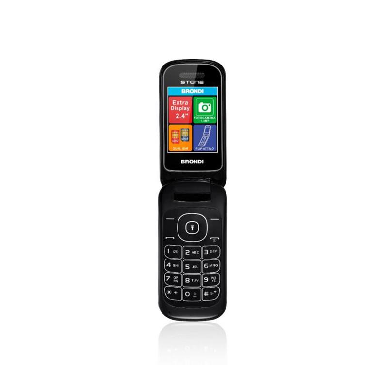 TELEFONO CELLULARE DUALSIM BRONDI STONE  BLACK ITALIA