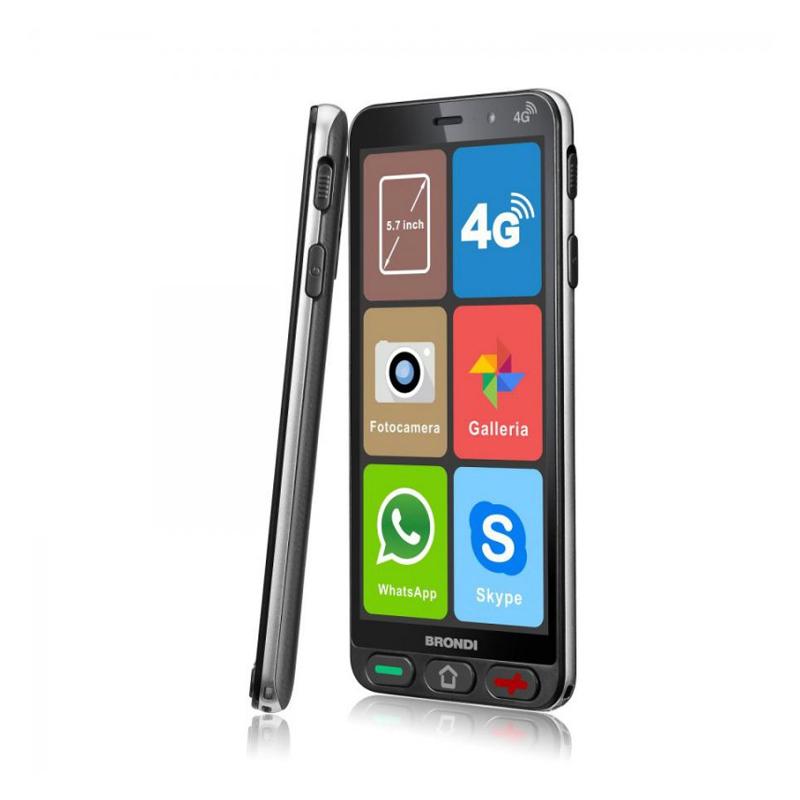 SMARTPHONE SENIOR DUALSIM BRONDI AMICO SMARTPHONE S 4G - CPU QuadCore 1.3GHz - Android 8.1 - RAM 1GB - Display 5.7