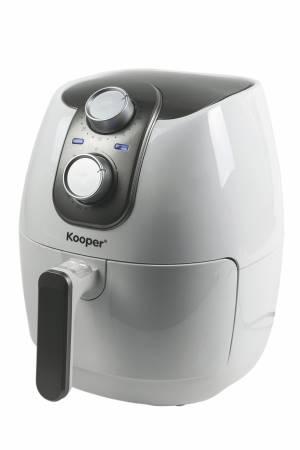 Kooper friggitrice ad aria ariosa 4.2lt  - cestello 2.8lt 1500w bianca e silver