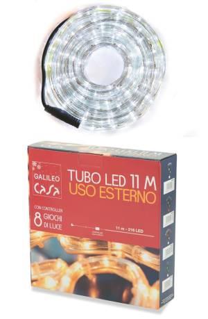 Galileo luci tubo a led interno/esterno 216 led 11mt bianca