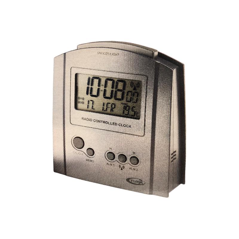 SVEGLIA RADIOCONTROLLATA T-LOGIC TL146 DOPPIA SVEGLIA TERMOMETRO ILLUMINATA