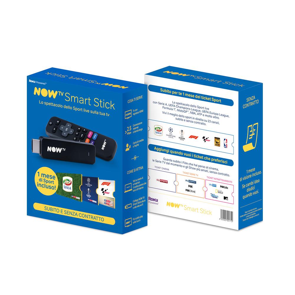 SKY SMART STICK NOW TV BLUE + 1 MESE DI SPORT+CALCIO foto 2