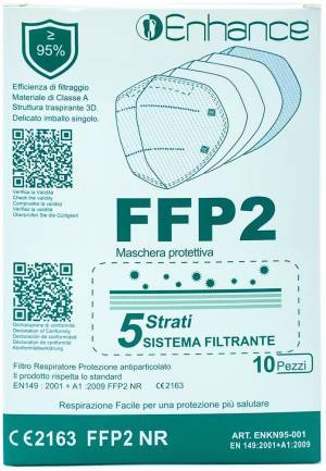 Enhance mascherina protettiva ffp2 pack 10pz