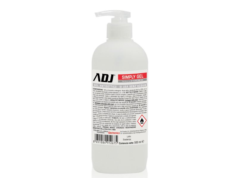 GEL DISINFETTANTE ADJ 500M ALCOL70% PRES MEDICO MIN SALUT DISINFETTANTE