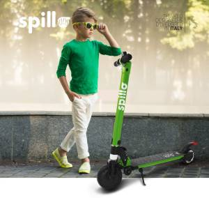 The one scooter elettrico spillo kids 150w lime green