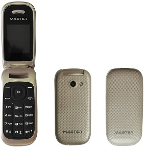 MOBILE PHONE CLAMSHELLLMASTER MF16  GOLD ITALIA