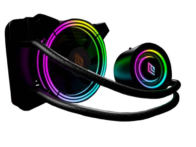 VENTOLA SIBERUS LIQUID RGB 120MM LGA 1150>2011V3 AMD FM1>AM4 foto 2
