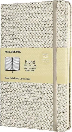 Moleskine taccuino blend c.cop. rigida tessuto 13x21cm beige