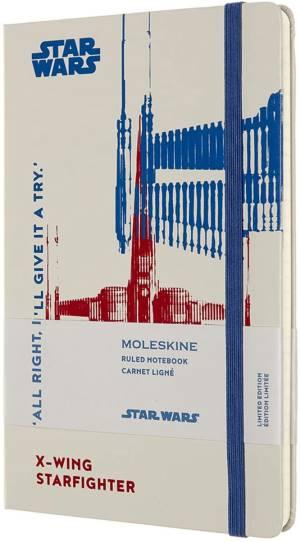 Moleskine taccuino cop. rigida star wars x-wing 13x21cm bianco