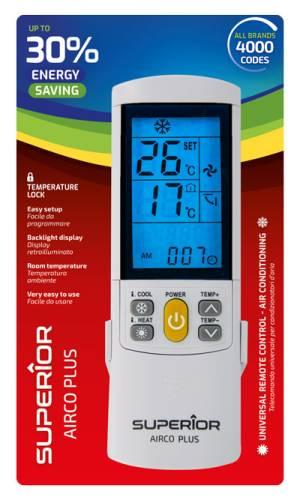 Superior telecomando universale climatizzatori airco plus illuminato