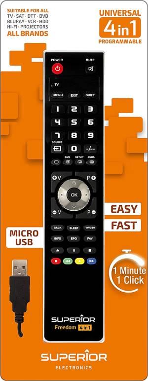 Superior telecomando universale freedom micro-usb 4 in 1