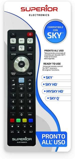 Superior telecomando universale sky / sky hd / mysky hd / sky q sh