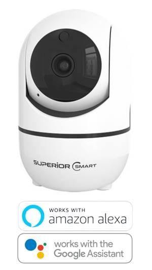 Superior security camera interno 360hd wifi alexa google smartlife