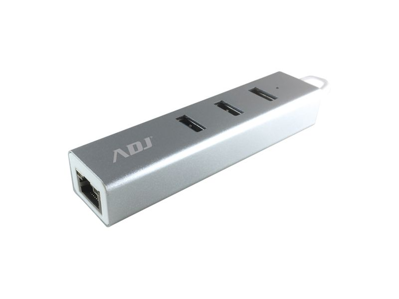 HUB USB 3.0 3P ADATTATORE TYPE-C SL 3*USB 3.0 + RJ45 ADJ foto 2