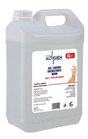 Altigien gel liquido igienizzante mani 5 lt (tanica)