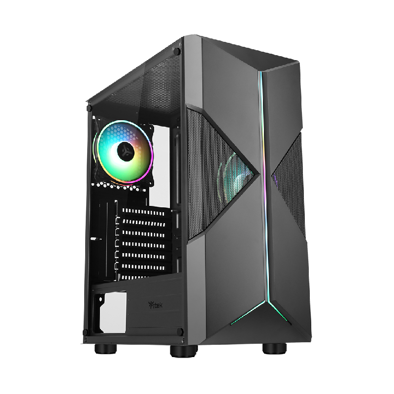 CASE ITEK SPACIRC XO - Gaming Middle Tower, 2x12cm ARGB fan, USB3