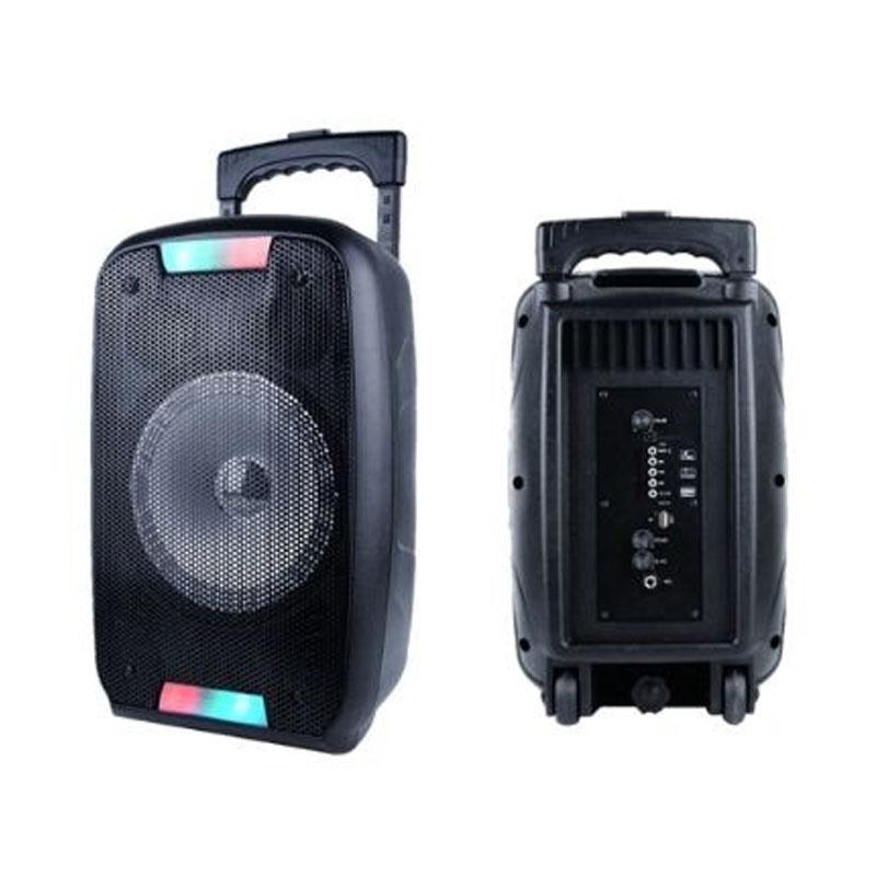 PARTY SPEAKER PORTATILE AKAI AKBT1000 BLACK - BLUETOOTH USB AUX MICROFONO 50 WATT