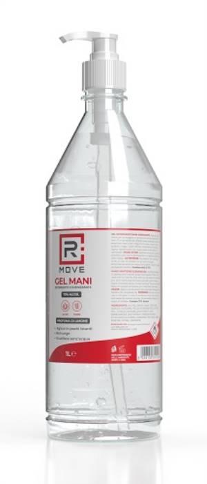 Rmove gel igienizzante mani alcool 70% con dosatore 1l