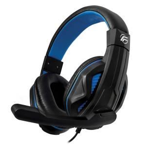 Fenner cuffie gaming soundgame + microfono pc/console blu