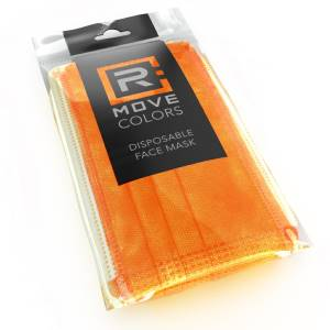 Rmove mascherina 3 veli+gancio regolabile arancione pack 10pz