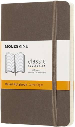 Moleskine quaderno a pagine rigate  marrone