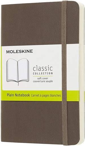 Moleskine quaderno a pagine bianche marrone