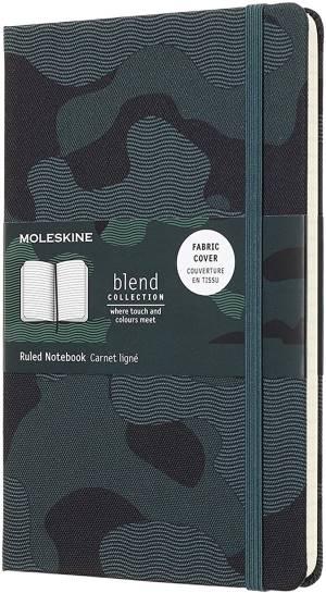 Moleskine taccuino blend 18large a righe verde mimetico