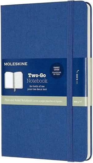 Moleskine taccuino two-go blu lapis 11.5x18cm