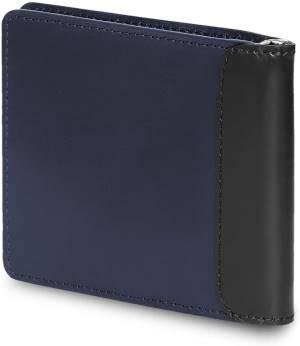 Moleskine portafoglio in pelle 10 tasche 1 fermasoldi blu