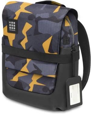 Moleskine zaino tablet/notebook impermeabile nero/giallo camouflage